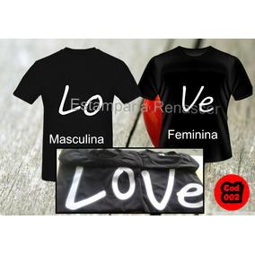 Kit 2 Camisas Camisetas Dia Dos Namorados Love, Casal,paixao
