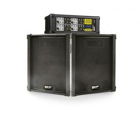 Combo Skp Consola Pot. 8ch Phantom Usb 1000w+ 2 Bafles 15