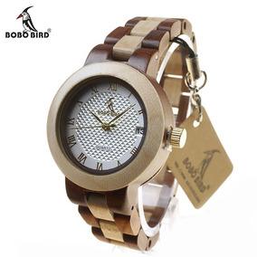 Relógio Feminino De Pulso Bobo Bird M19 Promoção
