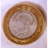Moneda De 20 Nuevos Pesos Hidalgo Con Centro De Plata