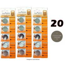 Bateria Lithium Cr2025 3v Cartela Com 20 Unidades Placa Mãe