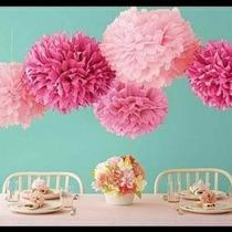 Balão Pompom Papel Seda Decoração Eventos E Festas 33 Cm