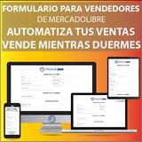 Formulario Registro De Compra Pago Vendedores Mercadolibre