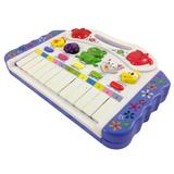 Piano Teclado 12 Tecla Animal Brinquedo Infantil Musica Sons