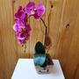 Arranjo De Flores Artificiais - Orquídea Rosa Tam: 50x18