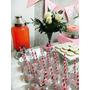 Kit Dispensador + 20 Botellas Vidrio + Sorbitos Deco Fiestas