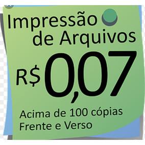 100 Copias Frente E Verso