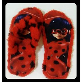 Chinelo Ladybug Estampado Com Pelúcia