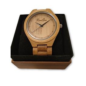 Rustygear Mens Luxury Natural Bamboo Wooden Watch Adjustable