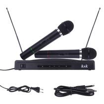 Microfone S/ Fio 2 Fm Receptor Palestra Escola Igreja 110v