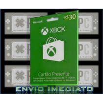 Cartão Xbox Live 30 Reais Gift Card Microsoft One 360 Br