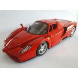 Miniatura De Metal Ferrari Enzo Escala 1.24 Burago Brinquedo