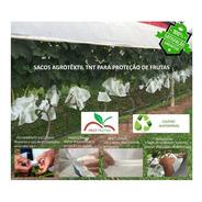 Sacos Agro Tnt C/ Elástico 25x32cm Proteção Frutas 100un