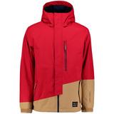 O Neill Pm Suburbs Jacket Campera Tecnica Hombre Rojo Beige