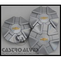 Kit 4 Pçs Calota Miolo Roda Original Astra Aro 15|16 Prata