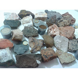 Coleção De Rochas E Minerais Especiais Com 30 Unidades