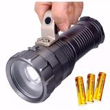 Lanterna Holofote Farolete Led Tática T6 Recarregável Zoom