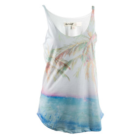 Musculosa Reef Tropical Beach Mujer Blanco