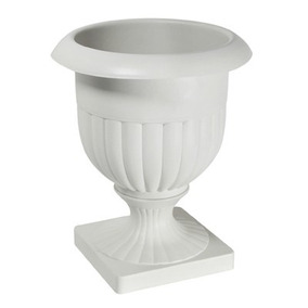 Vaso Plástico Taça Alta Betuni Cinza Gelo P/ Flores 1 Un