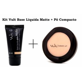 Kit Base Matte E Po Compacto Vult - Escolha O Seu Kit