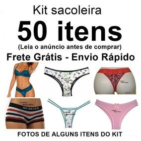 Kit Sacoleira 50 Itens Conjunto Lingerie Tanga Sutiã Atacado