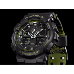 Relógio G-shock Ga-100l-1adr Original Special Color Ga 100