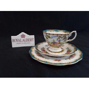 Royal Albert Trio Xícara De Café Inglês Chelsea Bird