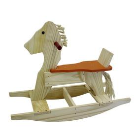 Cavalo De Balanço Em Madeira Nina Brinquedos Educativos