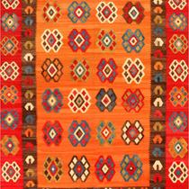 Alfombra / Tapete Handmade Afghan Kilim Rug, Salmon, 7 X 9