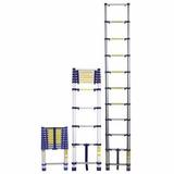 Escada De Abrir Telescópica Em Alumínio Com 10 Degraus