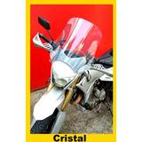Bolha Universal Para Motos Em Policarbonato Cristal. Novo