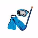 Snorkel + Gafas + Aletas Azul Niños