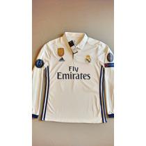 Jersey Real Madrid 2016-17 Home Champions League Manga Larga
