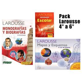 Pack Larousse Primaria 4°a6° Monografias Mapas Y Diccionario