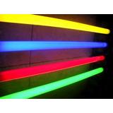Tubo Fluorescente Color Rojo Verde Azul Amarillo 18w/30w/36w