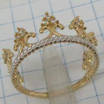 2300 Anel De Coroa De Ouro 18k 750 Rpw Joia Li