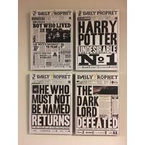 Oferta 4 Cuadros Harry Potter Diarios S (cada Uno 20x28 Cm)