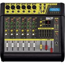 Consola Con Amplificador 6 Canales Usb Sd Micrófonos