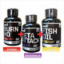 Beta Attack + Burn Hd + Fish Oil Ena Energia Quemador Salud