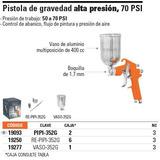 Pistola Para Pintar, De Gravedad, 50 Psi Clave Pip 19093