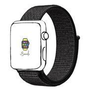 Pulseira Loop Esportiva Preto Refletivo Apple Watch 42 44mm