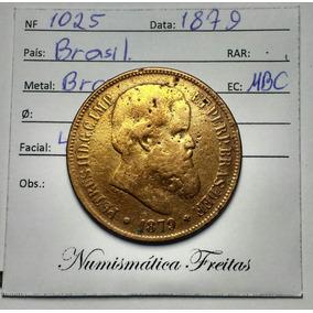 Moeda Antiga 40 Reis 1879 Império Bronze Para Coleção Linda