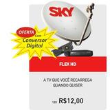Conversor Digital Com Sky Pré-pago Flex Kit Completo