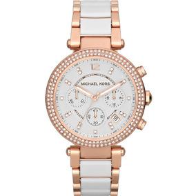 243e57d411b98 Relógio Michael Kors Emborrachado Branco Feminino - Relógios De ...