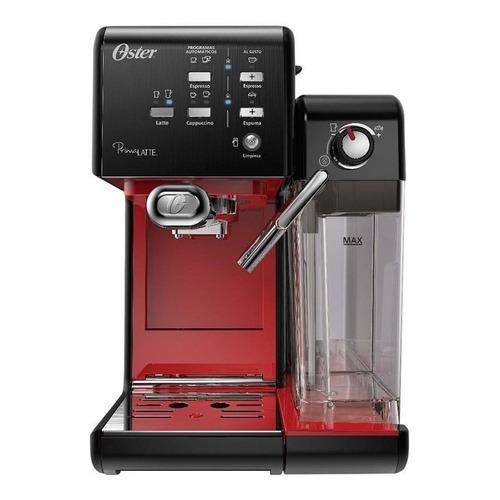 Cafetera Oster PrimaLatte BVSTEM6701 automática negra y roja para expreso y cápsulas monodosis 220V