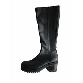 Botas Zapatos Mujer Febo Caña Alta Talle 40