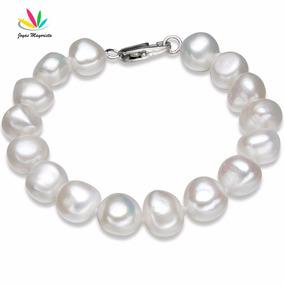 Pulsera Perlas Blancas Natural De Rio