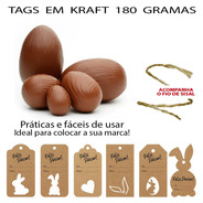 Tag Etiqueta Para Ovos De Páscoa Personalizada - 250 Peças