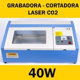 Maquina Cortadora Grabadora Laser Co2 40w 30x20 Msi Usb