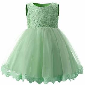 Vestidos De Bautizo Bodas Eventos Para Niñas Verde Menta